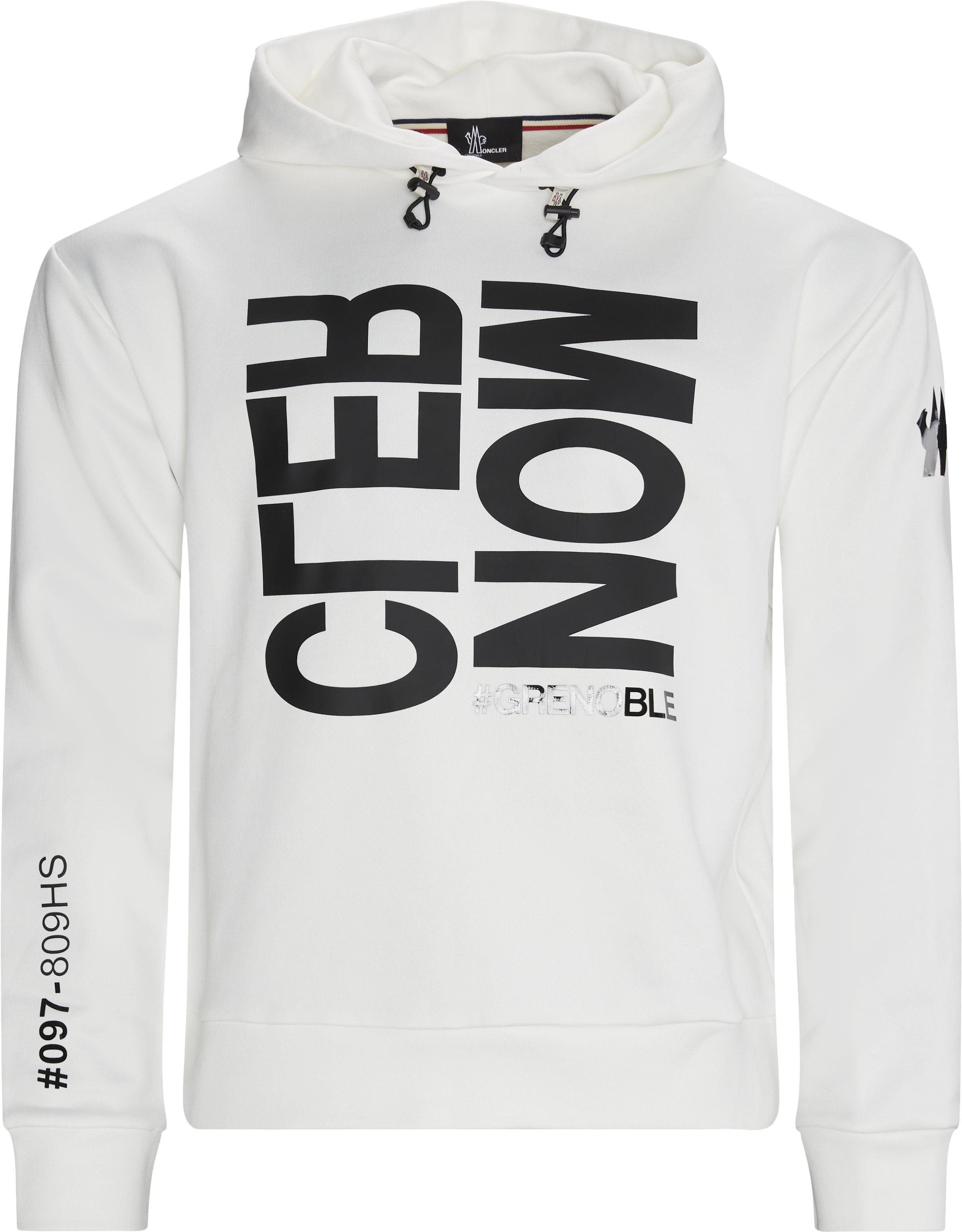 Hoodie  - Sweatshirts - Regular fit - Hvid